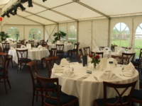 cateringbuffet in tent